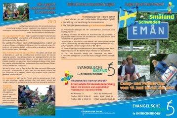 Flyer Schweden 2013 - Arbeitsstelle für Gemeindeberatung ...