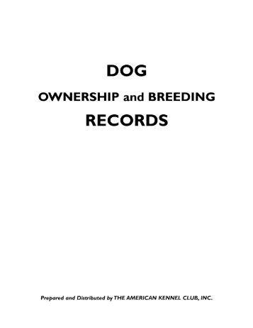 St Dog Breeding Records