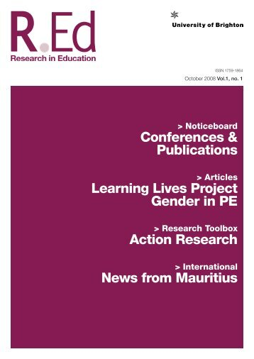 Download REd Vol 1, No 1 - University of Brighton