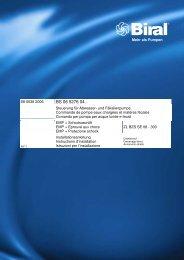 Istruzioni per l'uso (0.8 MB) - Biral