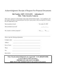 Acknowledgment: Receipt of Request-For-Proposal Documents