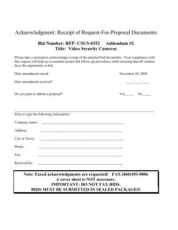 Acknowledgment Of Receipt Letter