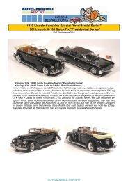 1939 Lincoln Sunshine Special - Auto-Modell-Report