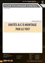 UNITÉS A/C À MONTAGE PAR LE TOIT - Conteg