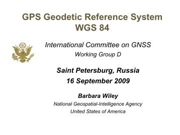 GPS Geodetic Reference System WGS 84