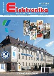Elektronika 2009-11.pdf - Instytut Systemów Elektronicznych