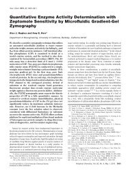 Quantitative Enzyme Activity Determination with Zeptomole ...