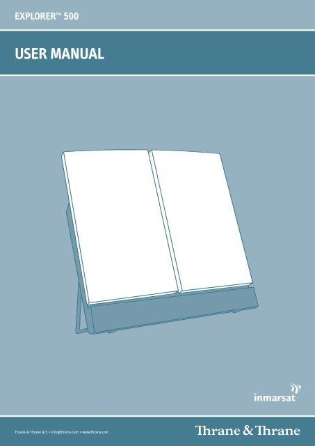 user manual explorer™ 500 - GMPCS Personal Communications Inc.