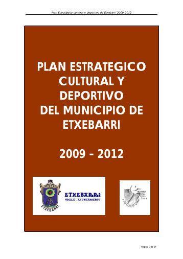Plan Estratégico Cultura y Deportes - Ayuntamiento de Etxebarri