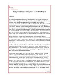 Background Paper on Keystone XL Pipeline Project - Business ...