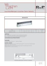 210 T5/T8-Leuchten
