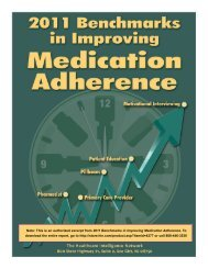2011 Benchmarks in Improving Medication Adherence - Healthcare ...