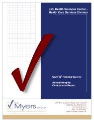 2006-2007 LSU Hospital Annual Comparison Report - LSU Health ...