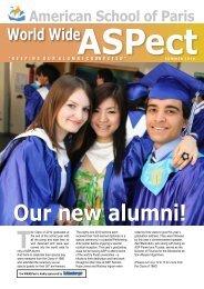 Our new alumni! - American School of Paris