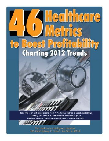 Executive Summary of 46 Healthcare Metrics to Boost Profitability