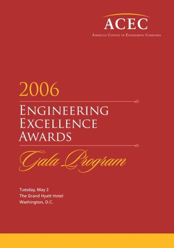Engineering Excellence Awards Gala Program - American Council ...