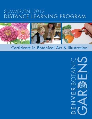 summer/fall 2012 distance learning program - Denver Botanic ...