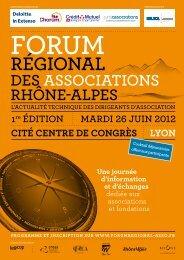 Programme - CRESS Rhône-Alpes