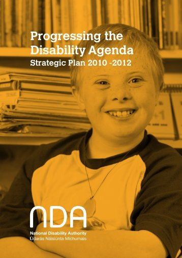 Progressing the Disability Agenda Strategic Plan 2010 – 2012