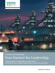 Your Partner for Leadership. - Siemens Industry, Inc.