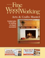 Arts & Crafts Mantel - Fine Woodworking
