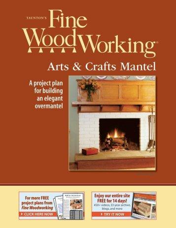 Arts & Crafts Mantel - Fine Woodworking