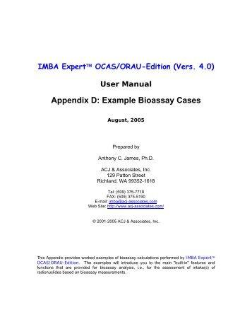 Appendix D: Example Cases [5.3 Mb - pdf] - ustur