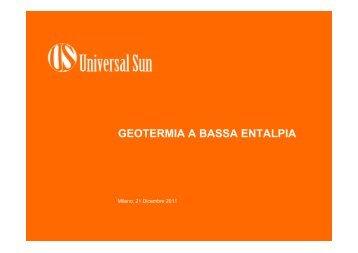 GEOTERMIA A BASSA ENTALPIA - Corrente