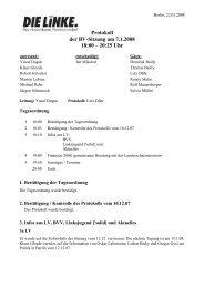 Protokoll der BV-Sitzung vom 7.1.2008 (pdf) - DIE LINKE ...