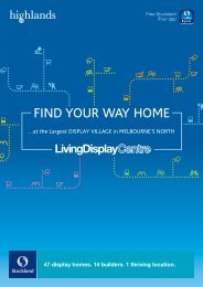 Living Display Centre brochure - Stockland