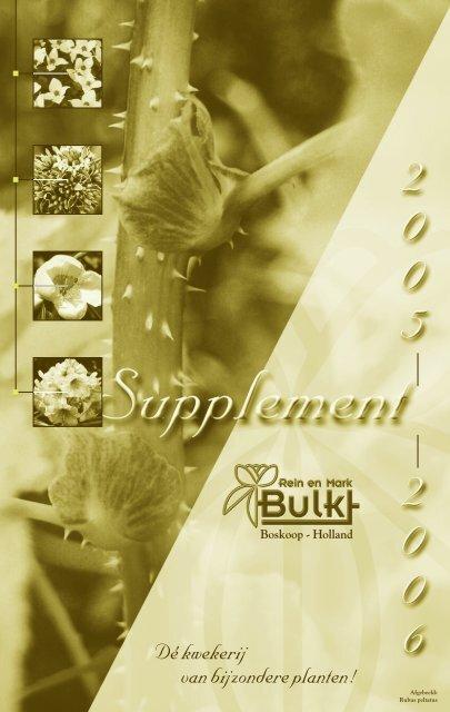 Supplement Catalogus - Bulk Boskoop