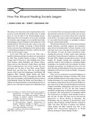How the Wound Healing Society began - ResearchGate