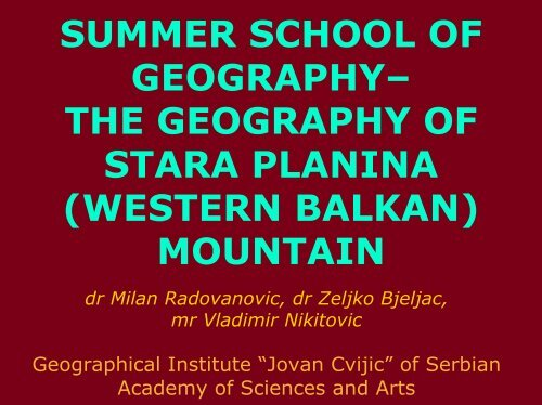 summer school of geography - HERODOT Network for Geography in ...
