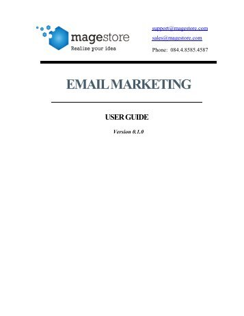 email marketing user guide - Magento Extensions