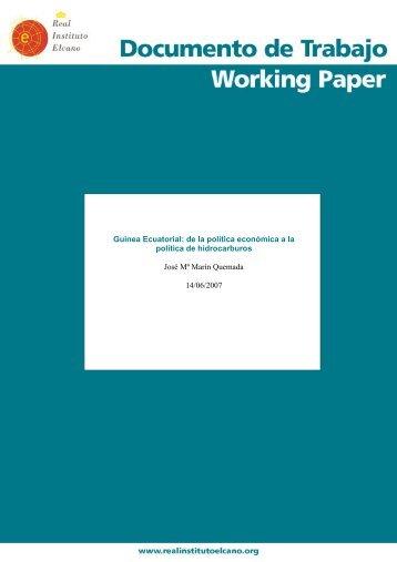 Guinea Ecuatorial: de la política económica a la política de ...