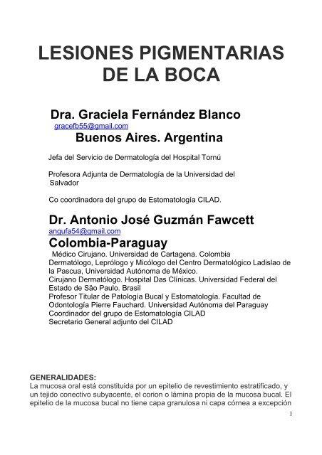 180 Lesiones Pigmentarias De La Boca Antonio Rondã N Lugo