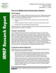 The U.S.-Middle East Partnership Initiative - IRmep