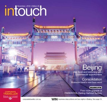 Corporate Traveller Intouch November 2012