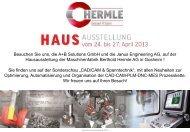 Flyer Hermle Hausausstellung - JANUS Engineering