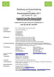 Kreismeisterschaften 2011 - Tennis-TSV-Pfuhl