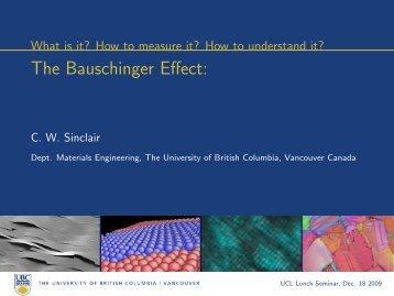 The Bauschinger Effect - Materials Engineering - University of British ...