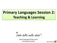 Primary Languages Session 2 - 2011 - Rachel Hawkes
