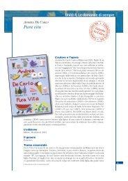 Andrea De Carlo - Pura vita - Loescher Editore