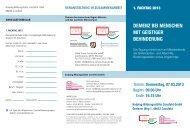 Flyer - Demenz-Servicezentrum Region Münster und das westliche ...