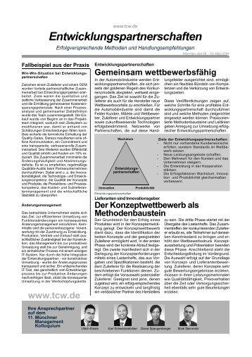 Entwicklungspartnerschaften, Handout zum 11. MMK