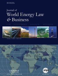 Front Matter (PDF) - Journal of World Energy Law & Business