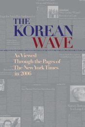 The Korean Wave 2006 - Korean Cultural Service