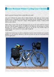 Water Resistant Winter Cycling Gear Checklist