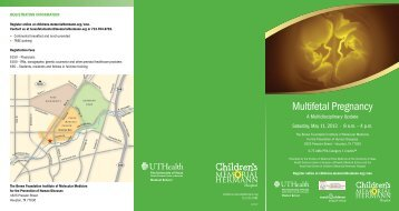 registration information - Children's Memorial Hermann Hospital