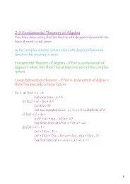 2-5 Fundamental Theorem of Algebra